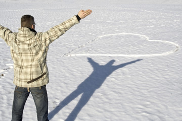 Liebesbekenntnis im Schnee