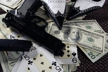 game guns and dollars, clasic mafia gangster still