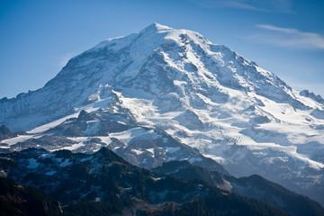 Snow Covered Mount Rainier