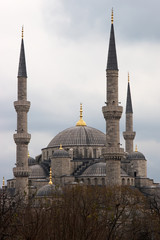 Blue Mosque in winter