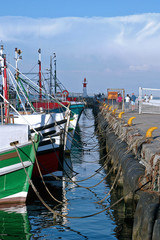 Fishing vessels in harbor, Western Cape, South Africa