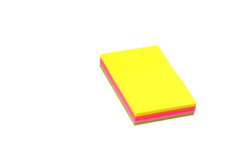 Stack of sticky notes.