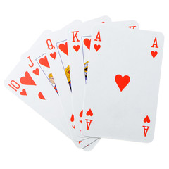 poker combination isolated