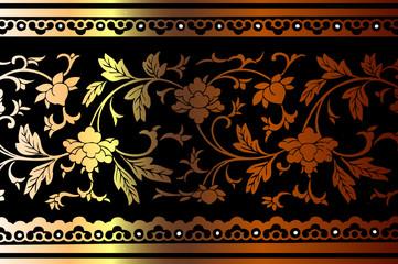 Floral Design Border Pattern