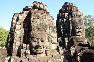 Face towers in Bayon, Angkor Thom, Cambodia