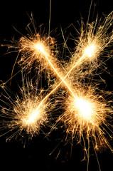 Sparkler letter X