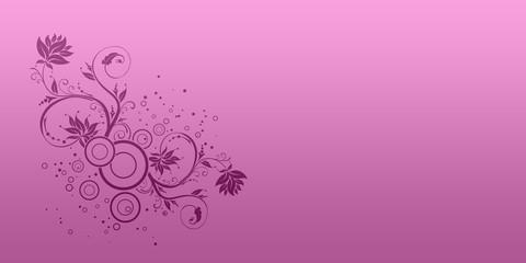 rose et mauve