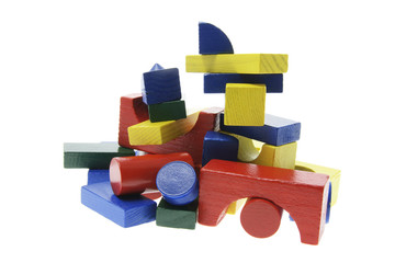 Stack of Wooden Building Blocks