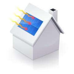 Maison blanche solaire (reflet)