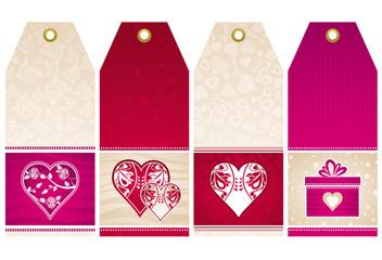 valentines  labels, vector