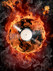 Poster Flamme Hot hits