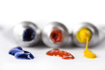 colorful paints squeezed from tubes