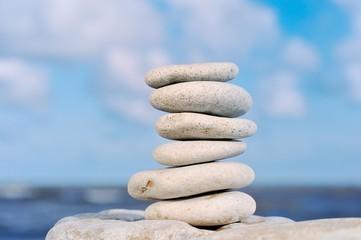 Pile of a sea pebble