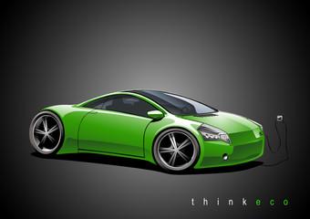 Elektroauto, grün
