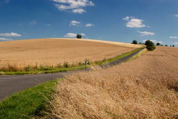 Landstrasse in Frankreich