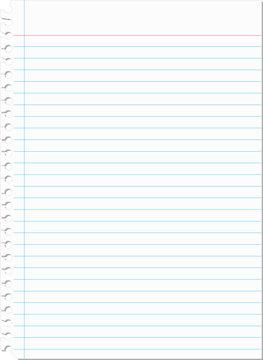 Torn blank notebook paper