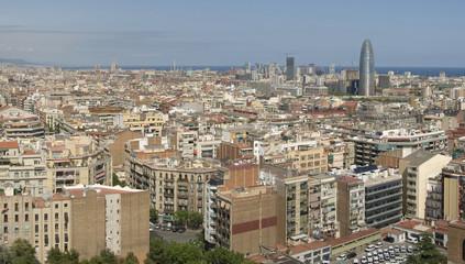 Barcelona, Spain panorama, city's skyline