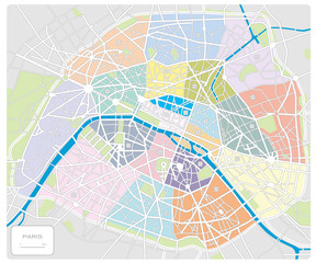map of Paris/France