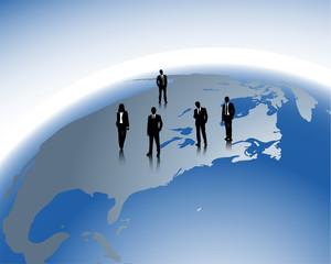 internationale Geschäftsverbindung