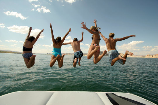 Jumping into Lake Powell