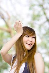 Beautiful Model Girl smiling