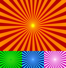 Keuken foto achterwand Psychedelic Vector vintage rays background