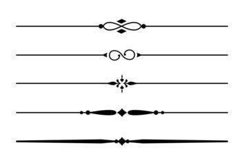 5 Dividers, Trennlinien und Zierlinien mit Ornamenten #1