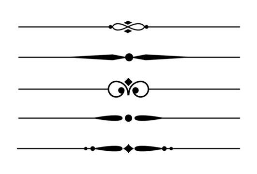 5 Dividers, Trennlinien und Zierlinien mit Ornamenten #2