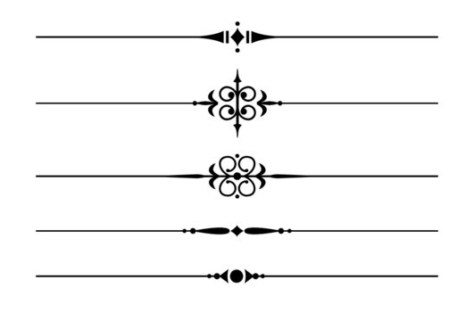 5 Trennlinien und Zierlinien mit Ornamenten #8