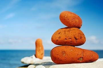 Three red stones