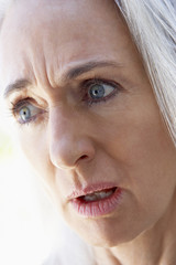 Portrait of Senior Woman Looking Shocked