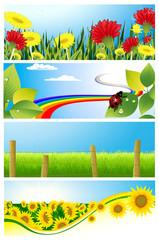 Summer background set