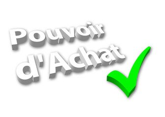 """""""Pouvoir d'Achat"""" - image 3D avec Coche"""