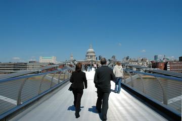 2 Businesspeople walking
