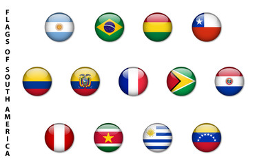 Flags of South America (buttons)