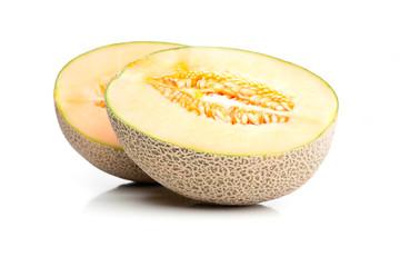 Zwei Hälften von Zuckermelone