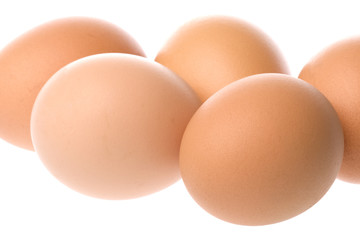 Chicken Eggs Macro Isolated