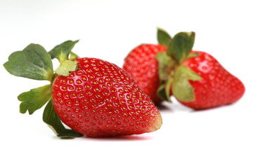 Red strawberries isolated