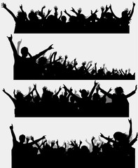 Party silhouette, vector for design