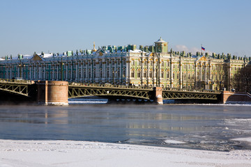 hermitage in winter