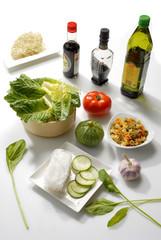 mesa de ingredientes