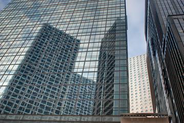 Skyscraper reflections.