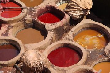 Les tanneries de Fez