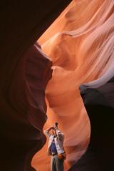 Schnappschuss im Lower Antelope Canyon, Arizona - USA