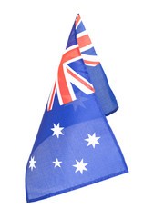 Country flag of Australia red white blue