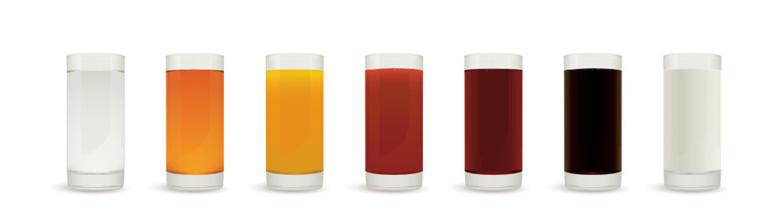 Healthy drinks glasses