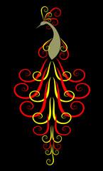 Peafowl. Decorative vector illustration.