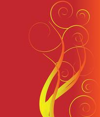 Fire of swirls