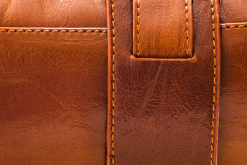 sewed leather