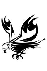 Bald eagle head tribal tattoo